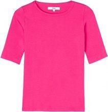 FIND T-Shirt Elasticizzata Donna, Rosa (Fuchsia), 46 (Taglia Produttore: Large)
