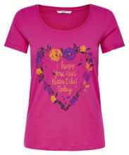 ONLY Short Sleeved T-shirt Women Pink