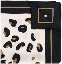 Max Mara Studio - leopard print border scarf - women - Silk - OS - NUDE & NEUTRALS