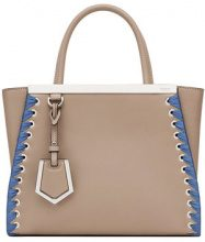 Fendi - petite 2Jours tote - women - Calf Leather/Rayon/Cotone/Polyurethane - One Size - NUDE & NEUTRALS