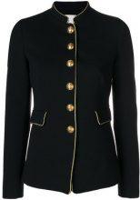 - Pinko - piped military style blazer - women - fibra sintetica - 46 - di colore nero