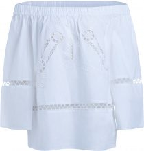 Blusa Semicouture Jarvis bianca con intarsi