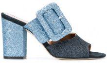 Paris Texas - glitter buckle mules - women - Leather/PVC - 36, 37, 38, 40, 36.5, 37.5, 38.5 - BLUE