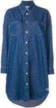 MSGM - button denim dress - women - Cotone - 42, 46 - Blu