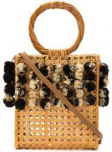 Serpui - embellished straw bag - women - Straw - OS - Color carne & neutri