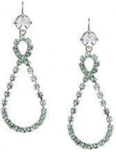 - Miu Miu - crystal drop earrings - women - cristalli/palladio/ottone - Taglia Unica - effetto metallizzato