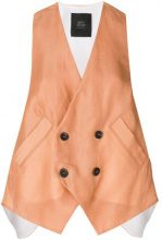Lost & Found Ria Dunn - Gilet doppiopetto - women - Silk/Acetate/Cotone - S - Color carne & neutri
