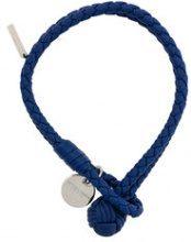 Bottega Veneta - Braccialetto intrecciato - women - Leather - M, S - BLUE