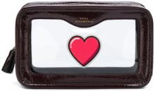 Anya Hindmarch - rainy day heart pouch - women - Patent Leather/Plexiglass - One Size - RED