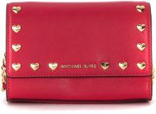 Borsa a tracolla Michael Kors Ruby in pelle ultrapink con borchie a cuore