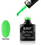 Bluesky Neon-Smalto Gel, Go, colore: verde, numero: 35, 10 ml, colore: verde fosforescente
