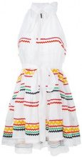 Lisa Marie Fernandez - Ric Rac mini dress - women - Linen/Flax - 3 - Bianco