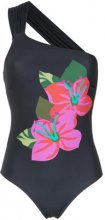 Amir Slama - flower print swimsuit - women - Polyamide/Spandex/Elastane - P, M, G, GG - Nero
