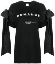 Brognano - Romance print tied T-shirt - women - Cotone/Polyester - XS, S, M - Nero