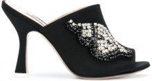 Attico - Mules decorate Pamela - women - Silk/Leather - 36, 37, 38, 39, 40, 41, 38.5 - Nero