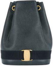 Salvatore Ferragamo Vintage - Vara Logos drawstring backpack - women - Leather - OS - Nero