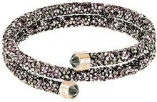 Swarovski Bracciale rigido Crystaldust Double, multicolore, placcato oro rosa