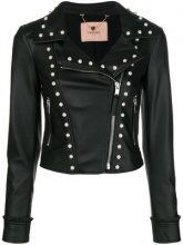 - Twin - Set - faux - pearl embellished jacket - women - fibra sintetica - 48, 40, 42, 44, 46 - di colore nero