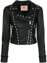 - Twin - Set - faux - pearl embellished jacket - women - fibra sintetica - 48, 44, 46 - di colore nero