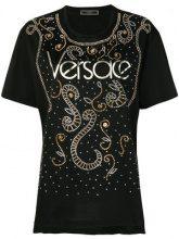 Versace - T-shirt con logo - women - Cotone - 36, 38, 40, 42 - Nero