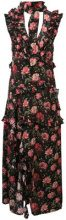R13 - floral cut out maxi dress - women - Silk - XS, S - Nero