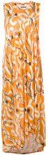 Henrik Vibskov - patterned asymmetric dress - women - Tencel - XS - YELLOW & ORANGE