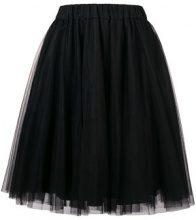 - P.A.R.O.S.H. - tulle pleated skirt - women - fibra sintetica/acetato - M - di colore nero