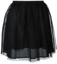 - Red Valentino - tulle mini skirt - women - Polyamide/cotone - 42 - di colore nero