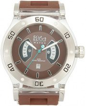 B360 WATCH Unisex Orologio da polso Large, 5 bars al quarzo in silicone B CLASS Brown Clear L