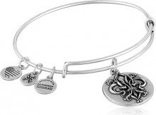 Alex and Ani Braccialletto Estensibile da Donna con Charm in Ottone, Argento