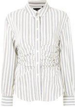 Isabel Marant - Camicia con motivo a strisce - women - Silk/Cotone/Cupro - 38, 40 - Blu