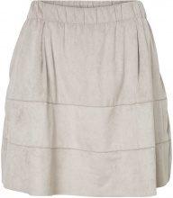 NOISY MAY Faux Suede Skirt Women Grey