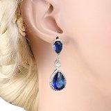 Ever Faith® con zirconia cubica a goccia orecchino orecchini pendenti
