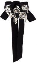 Dorothee Schumacher - gem embellished choker necklace - women - Polyamide - One Size - Nero