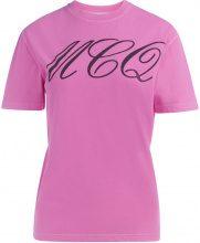 T-Shirt McQ Alexander McQueen Tattoo Print in cotone rosa