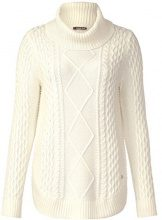 Street One Cable Pullover with Curved Bottom, Maglione Donna, Weiß (Off White 10108), 50
