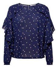 edc by Esprit 028cc1f011, Camicia Donna, Blu (Navy 400), Large