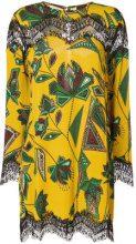 Just Cavalli - lace panel printed dress - women - Viscose - 36, 38, 40, 42, 44 - Multicolore