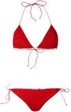 Oseree - Bikini a triangolo - women - Polyamide/Polyester/Spandex/Elastane - S, L - RED