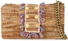 Borsa a tacolla Kooreloo New Yorker Soho in pelle cammello intrecciata