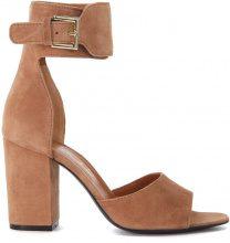 Sandalo con tacco Via Roma 15 in pelle sabbia
