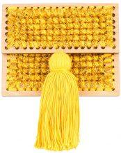 0711 - Copacabana small woven clutch - women - Acrylic/Lurex - OS - Giallo & arancio