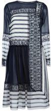 Alberta Ferretti - contrast panel dress - women - Silk/Polyamide/Acetate/other fibers - 42 - Blu