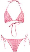 Lisa Marie Fernandez - ruffle string bikini set - women - Nylon/Polyester/Spandex/Elastane - XS, S, M - RED