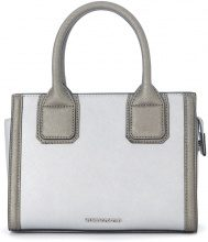 Borsa a mano Karl Lagerfeld Klassic Mini in pelle argento