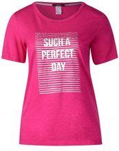 Cecil 312124, T-Shirt Donna, Rosa (Galaxy Pink 21368), XXL