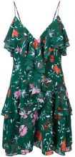 - C/Meo - floral print ruffle dress - women - Polyester - L - Verde