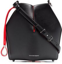 Alexander McQueen - black and red Bucket leather bag - women - Leather - One Size - Nero