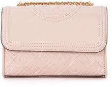 Borsa a tracolla Tory Burch Fleming Small in pelle rosa