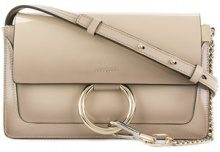 Chloé - Borsa a spalla 'Faye' - women - Lamb Skin/Calf Leather - OS - NUDE & NEUTRALS